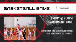 basketball game template for digital signage