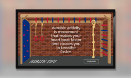 health tips template for digital signage
