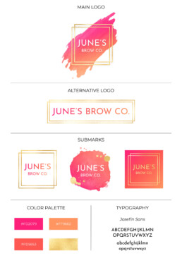 brand identity for June's Brow Co.