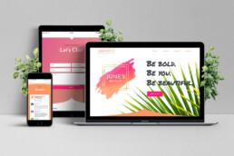 June's Brow Co. website